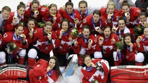 Canadian women's hockey team in Sochi
