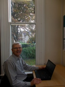 studying at desk in Wycliffe Hall