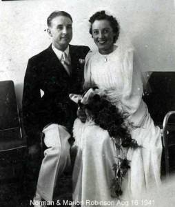 Norman and Marion Robinson wedding
