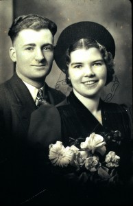 Fred and Ella Tiessen wedding July 31 1939