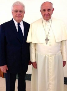 Brian Stiller and Pope Francis